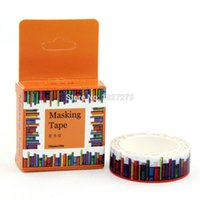 Wholesale Book Tapes - Wholesale- 2016 1pcs 1.5CM Wide Amazing Library Books Washi Tape DIY Scrapbooking Sticker Label Masking Tape School Office Supply