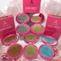 Wholesale Eyeshadow Singles - Five Stars Makeup Skin Frost Ice Cold Face Jeffrey Glow Kit Bronzers Highlighters Powder with Mirror 8 Colors VS kylie eyeshadow