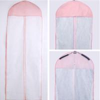 toz örtüsü için kumaş toptan satış-Giysi Koruyucu Kılıf Olmayan Dokuma Kumaş Gelinlik Akşam elbise Toz Geçirmez Kapak Pratik Ev Saklama Çantası 5 6ac F R