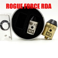 Wholesale Force Electronics - Newest ROGUE FORCE RDA 4 Colors 24mm Diameter with Brass Red Copper ROGUE FORCE RDA Electronic Cigarette DHL Free