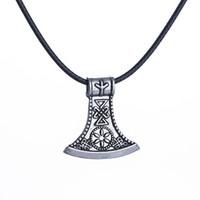 Wholesale Wholesale Hatchet Man - Viking Axe Pendant Necklace for Mens Necklace Hatchet Amulet Necklaces Scandinavian Norse Viking Jewelry for Men Wholesale