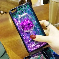 Wholesale liquid sky - Glitter Liquid Red Wine Sky Cases Soft TPU Shining Bling Style For IPhone 7 Plus 6S Plus 5S Cradle