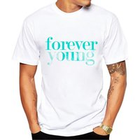 Wholesale Forever Tee - 2017 Fashion Forever Young Print T Shirts Men's T-Shirt Shorts Sleeve Brand NEW Summer Male Tops Tees Casual Shirts for Man