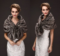 Wholesale Cheap Warm Black Winter Coat - Free Size Black Fall Winter Bridal Wraps Faux Fur Cheap Warm Wedding Coats High Quality Adjustment Wedding Accessories CPA972