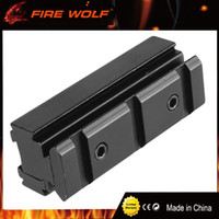 FIRE WOLF Scope Base Adapter Converter 11mm bis 20mm Weaver picatinny Rail Scope Mount Rifle Jagd Caze Zubehör Schwarz
