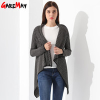 Wholesale Ladies Long Red Cardigan Sweater - Cardigan Female Knitted Ponchos Turn Down Collor Loose Tops Casaquinho Feminino Sweater Ladies Cardigan For Women Capes GAREMAY