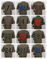 Wholesale Embroidery Services - 2017 New American Rugby Football Jerseys Legend Salute to Service Custom Cheap Sports Embroidery pittsburgh