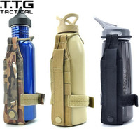 Wholesale Coyote Tactical - Wholesale- Unisex Nylon Minimalist Molle Tactical Water Bottle Holder Tactical Hiking Sports Belt Bottle Carrier Coyote Brown