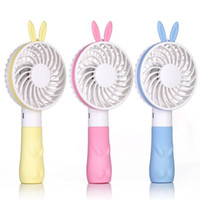 Wholesale Rabbit Bear Style Mini Handheld Fan Lithium Battery Rechargeable Home Office Portable USB Fan With Second Gear