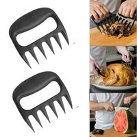 Stainless Steel black steel pan - Grizzly Bear Paws Meat Claws Handler Fork Tongs Pull Shred Pork BBQ Barbecue Tools BBQ Grilling Accessories with Retail box F201788