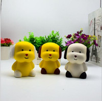Wholesale Dog Squeeze Toys - Original Kawaii Squishy Dog Face Bread Soft Slow Rising Pendant Phone Straps Stretchy Squeeze Cream Scented Cake Kid Toy Gift