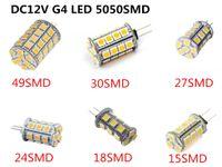Wholesale Type G4 Bulb Led 12v - Tower Type LED G4 3200K Warm White Lamp 13 15 18 24 27 30 49SMD 5050 LED , Halogen Bulb Replacement 12V