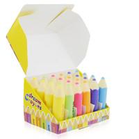 Wholesale Lipstick Pens Yellow - Rmakeup 1pcs yellow lipstick pencil Red purple blue pink lipstick pen lip Makeup Random color send ML048