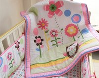 Wholesale Cotton Comforter Quilt - Baby quilts different cartoon designs for girl decorate nursery bedding room cotton comforter bedding sets for children
