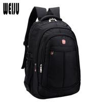 Wholesale 32 computer - Wholesale- 2015 New Waterproof Business Backpack Men Fashion Casual Nylon Large Capacity Backpacks Travel Bags Size 45*32*19cm YA0448