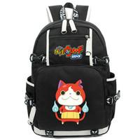 Wholesale Time Watch Cartoon - Yokai watch backpack Jibanyan cat daypack Terror Time schoolbag Game rucksack Sport school bag Outdoor day pack