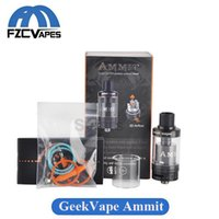 Wholesale E Refills - Original Geekvape Ammit RTA 22mm Diameter Geek Vape Rebuidable Tank Atomizer 3.5ml Top Refilling RDTA E Cigarette
