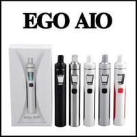Wholesale Wholesale Ego Led Kit - Joyetech EGO Aio Kit 1500mAh Quick Start Vaporizer Kit All in One Starter Kit 0.6ohm with Colorful LED light via DHL