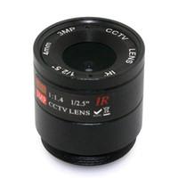 Wholesale Ir Camera 8mm Lens - 3MP 4mm 6mm 8mm 12mm 16mm CS Lens 1 2.5'' F1.4 CS Fixed IR 3.0 Megapixel CCTV Lens For IR 720P 1080P CCTV Security Camera