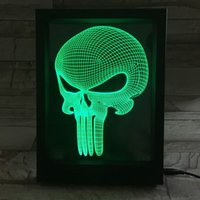 3D Publisher LED Photo Frame IR Remote 7 RGB Lights AAA Battery ou DC 5V Factory Wholesale Dropship Frete grátis