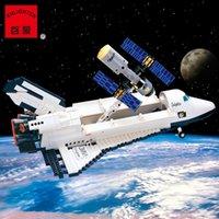 Wholesale Enlighten Space - 2017 New Enlighten Aerospace series space shuttle 514 Building Blocks Mind Hands Active Model Assemble Eductional Toys Gift Legeo Compatible
