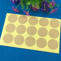 Paper black scrapbook paper lot - 600PCS cm Kraft Blank Paper Sticker Round Scrapbook Calendar Printting Labels Seal For Gift Bake Box Jewelry Cake