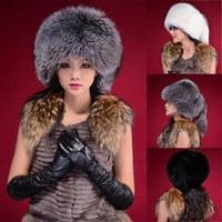 fauxpelz barett großhandel-Großhandels-Frauen Dame Warm Winter Tail Beanie Beret Cap Frauen Faux Pelz Ohr Earflap Hut