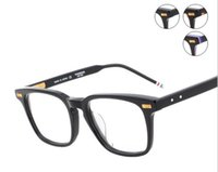 Wholesale Metal Optical Spectacles - 2017 Fahion New Men Women Optical acetate prescription spectacle Square tb402 TB-402 Myopia Eye glasses Frame Eyeglasses TB-402A eyewear
