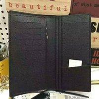 şekil cüzdan toptan satış-Yeni yüksek kalite Ünlü Tasarım Cüzdan Moda Erkekler Halat Şekil Çanta uzun Para Cebi Casual Çanta günü debriyaj L41676