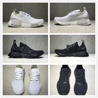 Wholesale Womens White Tops - NMD R1 Primeknit Triple Black White Japan BZ0220 BZ0221 Nmds PK Running Shoes Mens Womens Size EU36-45 Top Quality Real Boost Wholesale