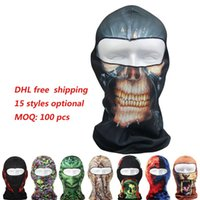 Nouveau vélo de sport 2017 Cyclisme Masques de moto 3D Animal Active Ski Ski Hood Hat Veil Balaclava UV Protect Full Face Mask