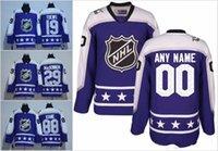 Wholesale Ryan Suter - All Star 2017 Hockey Jerseys Central Purple 29 Nathan MacKinnon 91 Tyler Seguin 40 Devan Dubnyk 2 Duncan Keith 20 Ryan Suter