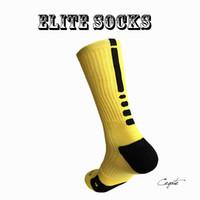 Wholesale Custom Basketball Socks - 2016 new hot selling elite socks cotton sport socks cotton towel men basketball Socks long custom elite sock deodorant for men