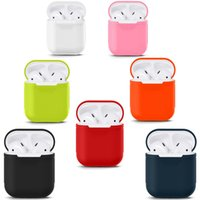 Wholesale For Apple Airpods Charger Case Soft Silicone AirPods Case WaterProof Cover for iPhone Plus Airpods Charging Cover