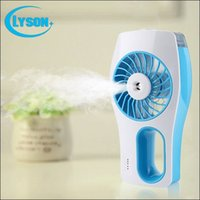 Wholesale Hot sale USB recharge battery handheld mist fan desktop mini USB mist humidifier fan for outdoor colors