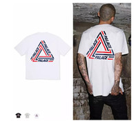 Men black cribs - men PALACE TRI CRIB T SHIRT Women Stripe Triangle Hip Hop Fashion Cotton Short Sleeve Crew Neck T Shirts Street Skateboards Tees Shirt casu