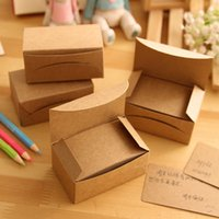 Wholesale Vintage Office Supplies - Wholesale- 100pcs box Vintage Empty Kraft Message Business Card Stationery Sketchbook Note Pad Office School Supplies Papelaria