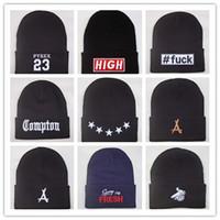 chapeau nyc cap achat en gros de-Nouvelle Arrivée Compton Pyrex 23 tha Alumni derniers rois 40 OZ NYC beanie chapeaux hip hop laine chapeau d'hiver coton tricoté chaud casquettes pour hommes femmes