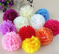 Wholesale carnations flower colors online - 9cm colors available Artificial Silk Carnation Flower Heads Mother s Day DIY Jewelry Findings headware G619