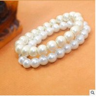 Wholesale 8mm Pearl bracelets simple bangles cheapest bracelets