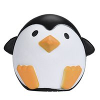 Wholesale Toys For Females - PU Male and female Antarctic penguins Jumbo Squishy Slow Rising Pendant Phone Straps Charms Queeze Kid Toys Cute squishies Bread
