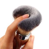 профессиональный корабль падения макияжа оптовых-Wholesale-New Fashion Kabuki kit Professional  Brushes Ulta it all over 211 Flawless Blush  Brush Silver Color Drop Shipping