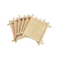 ingrosso tappetini da tavolino in bambù-New Mini Bamboo Handmade Mat Mat Kung Fu Accessori per il tè Tovagliette per il caffè Sottobicchiere Tazze di caffè Prodotti per la cucina Pad per tazze