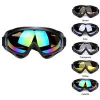 Wholesale Motorcycle Goggles Black - Black Frame UV400 Snow Ski Goggles Men Over Glasses Anti-fog Lens Snowboard Snowmobile Motorcycle Cycling Ski Sunglasses