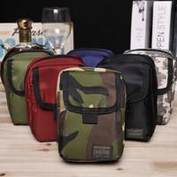 Wholesale Korean Wallet Phone Case - 2017 new POR Yoshida mini pocket bag men's 5.5 inch mobile phone package camouflage small bag cigarette case