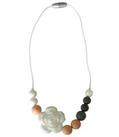 Wholesale Necklace Beads For Baby - New Silicone Teething Necklace Flower Beads Teether Pendant Food Grade Silicone Sensory Necklace for Baby Chewing Mommy Necklace