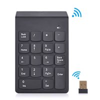 Wholesale Mini Numeric Keypad - access control keypad 2.4G USB Numeric Keypad 18Keys Wireless Keyboard Mini Digital Keyboard Ultra Slim For Compute PC Laptop