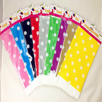 Wholesale Dot Tablecloth - Wholesale Disposable party tablecloth colourful Dot print pattern 180X108cm Degradable PE plastic table Pads Birthday Party Decoration cover