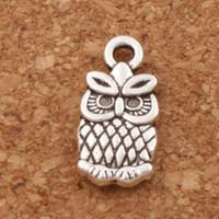 Wholesale Antique Owl Charms - Small Owl Charms Pendants 7x15mm 200pcs lot Antique Silver Fashion Jewelry DIY Fit Bracelets Necklace Earrings L987