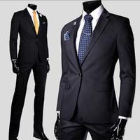 Wholesale Mens Harris Tweed Blazer - Wholesale Wedding Men Suits Business Formal Mens Suits Blazer Groom Tuxedos Wedding Groomsman Jackets trousers